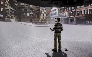 Max Planck Institute for Biological Cybernetics Virtual Reality Lab. Picture: Berthold Steinhilber / Max Planck Institute for Biological Cybernetics