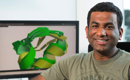 Vikram Alva, first author of the publication. Credit: Jörg Abendroth/Max Planck Institute for Developmental Biology